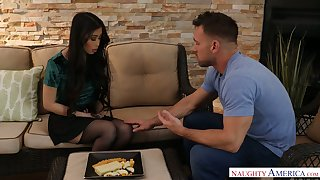 Seductive Asian babe Jade Kush is fucked by hot blooded Johnny Castle