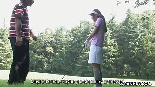 Golf player Karin Mizuno licks anal hole of her kinky instructor