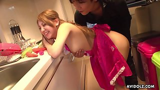 Japanese housewife, Mariru Amamiya is cheating on her husband, uncensored