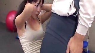 Japanese erection at one's fingertips chum around with annoy gym