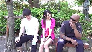 Mitsuki Nagisa cheats on BF with BIG BLACK COCK - interracial