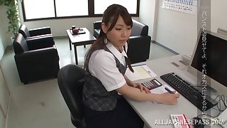 Stocking-clad Asian babe surrounding a spot on target body sucking a stranger's cock