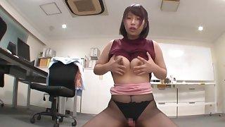 Busty Japanese election lady wants dick by way of breakfast break