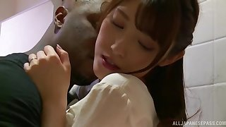 Interracial fucking between a deadly dick and Japanese Iioka Kanako