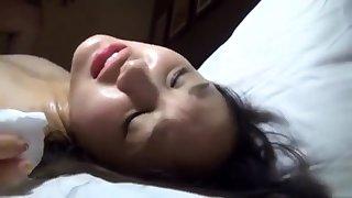 Doggystyle sweet Japanese bowels masturbating