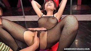 Busty Yui Shimizu got sex toys up say no to tight ass hole