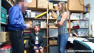 Sexy mommy Christy Love gets punished instead of her stepdaughter