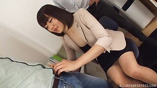 Japanese date MILF is ready be worthwhile for their way dose of poikilothermic cock