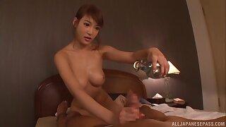 Sensual lovemaking upon the sundown down nice tits coddle Kirara Asuka