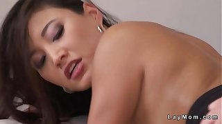 Beautiful natural tits Asian Milf fucking